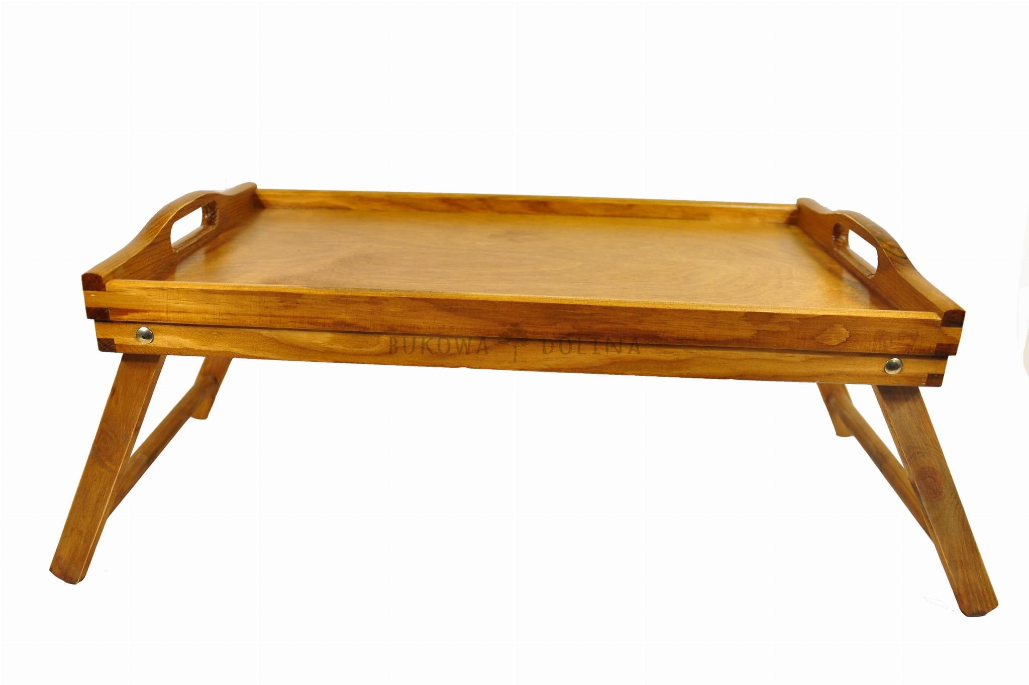 Stolik śniadaniowy Orzech Taca Do łóżka Rozkładana