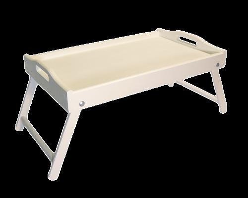 Stolik śniadaniowy Biały Taca Do łóżka Rozkładana